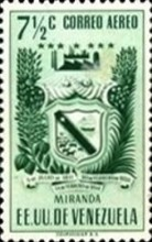 [Airmail - Coat of Arms - State of Miranda, type ACP8]