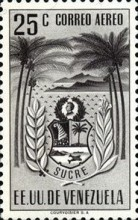 [Airmail - Coat of Arms - State of Sucre, type ADF10]