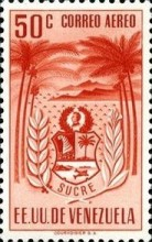 [Airmail - Coat of Arms - State of Sucre, type ADF12]