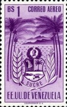 [Airmail - Coat of Arms - State of Sucre, type ADF14]