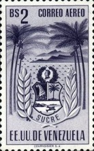 [Airmail - Coat of Arms - State of Sucre, type ADF15]