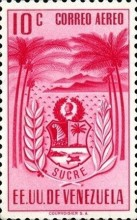 [Airmail - Coat of Arms - State of Sucre, type ADF8]