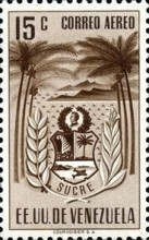 [Airmail - Coat of Arms - State of Sucre, type ADF9]