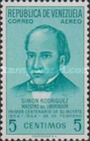 [Airmail - The 100th Anniversary of the Death of Simon Rodriguez, Bolivar's Tutor, 1771-1854, type ANR]