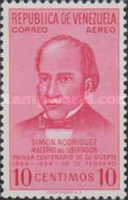 [Airmail - The 100th Anniversary of the Death of Simon Rodriguez, Bolivar's Tutor, 1771-1854, type ANR1]