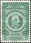 [The 1st Postal Convention, Caracas, type APF]