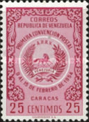 [The 1st Postal Convention, Caracas, type APF2]