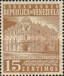 [Airmail - Caracas Central Post Office, type ASI13]