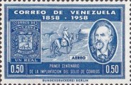 [Airmail - The 100th Anniversary of First Venezuelan Postage Stamps, type AWA1]