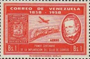 [Airmail - The 100th Anniversary of First Venezuelan Postage Stamps, type AWB1]