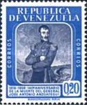 [The 140th Anniversary of the Death of General Jose Antonio Anzoategui, 1793-1819, type AYZ2]