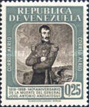 [Airmail - The 140th Anniversary of the Death of General Jose Antonio Anzoategui, 1793-1819, type AYZ3]