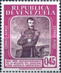[Airmail - The 140th Anniversary of the Death of General Jose Antonio Anzoategui, 1793-1819, type AYZ5]