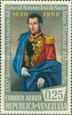 [Airmail - The 130th Anniversary of the Death of General Antonio Jose de Sucre, 1795-1830, type AZF3]