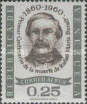 [Airmail - The 100th Anniversary of the Death of Rafael Maria Baralt, Writer, 1810-1860, type BAK3]