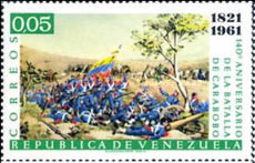 [The 140th Anniversary of Battle of Carabobo, type BBA]