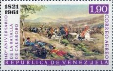 [Airmail - The 140th Anniversary of Battle of Carabobo, type BBC3]