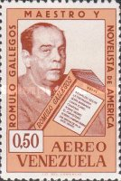 [Airmail - The 80th Anniversary of the Birth of Romulo Gallegos, Novelist, 1884-1969, type BFU2]