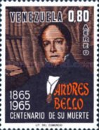 [Airmail - The 100th Anniversary of the Death of Andres Bello, Poet, 1781-1865, type BIU]