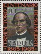 [Airmail - The 100th Anniversary of the Death of Father Fermin Toro, 1807-1865, type BJE]