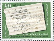 [Airmail - The 150th Anniversary of the Death of Jose Lamas, Composer, type BKC]