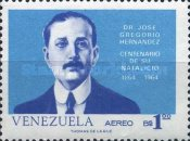 [Airmail - The 100th Anniversary of the Birth of Dr. Jose Hernandez, Physician, 1864-1919, type BKR]