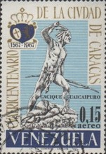 [Airmail - The 400th Anniversary of Caracas, type BLU]