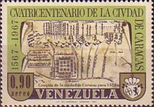 [Airmail - The 400th Anniversary of Caracas, type BMD]
