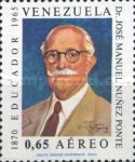 [Airmail - The 3rd Anniversary of the Death of Dr. Jose Manuel Nunez Ponte, 1870-1965, type BMY]