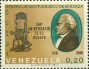 [Airmail - The 150th Anniversary of the Death of General Francisco de Miranda, 1750-1816, type BMZ]