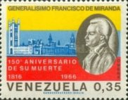 [Airmail - The 150th Anniversary of the Death of General Francisco de Miranda, 1750-1816, type BNA]