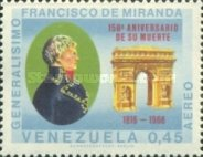 [Airmail - The 150th Anniversary of the Death of General Francisco de Miranda, 1750-1816, type BNB]