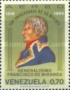 [Airmail - The 150th Anniversary of the Death of General Francisco de Miranda, 1750-1816, type BNC]