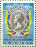 [Airmail - The 150th Anniversary of the Death of General Francisco de Miranda, 1750-1816, type BND]