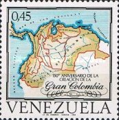 [The 150th Anniversary of Greater Colombia Federation, type BQB]