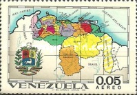 [Airmail - States of Venezuela - Maps and Arms of the Various States, type BQX]