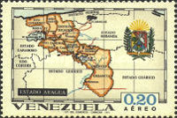 [Airmail - States of Venezuela - Maps and Arms of the Various States, type BRU]