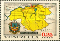 [Airmail - States of Venezuela - Maps and Arms of the Various States, type BRX]