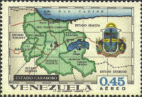[Airmail - States of Venezuela - Maps and Arms of the Various States, type BRY]