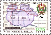 [Airmail - States of Venezuela - Maps and Arms of the Various States, type BSD]