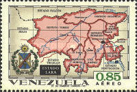 [Airmail - States of Venezuela - Maps and Arms of the Various States, type BSE]