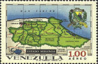 [Airmail - States of Venezuela - Maps and Arms of the Various States, type BSG]