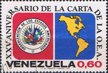 [The 25th Anniversary of Organization of American States, type BUV]