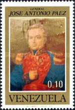 [The 100th Anniversary of General Jose A. Paez, 1790-1873, type BUW]