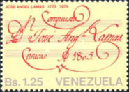 [The 200th Anniversary of the Birth of Jose Angel Lamas, Composer, 1775-1814, type BYF]