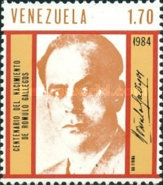 [The 100th Anniversary of the Birth of Romulo Gallegos, 1884-1969, type CIN]