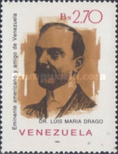 [The 125th Anniversary of the Birth of Dr. Luis Maria Drago, Argentine Politician, 1859-1921, type CJY]