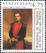 [The 200th Anniversary of the Birth of General Santiago Marino, 1788-1854, type CSP]
