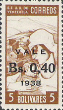 [Overprinted and Surcharged VALE - Bs. 0,40 - 1938, type FL1]
