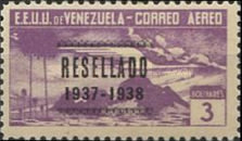 [Airmail - Local Motives - Issues of 1937 Overprinted